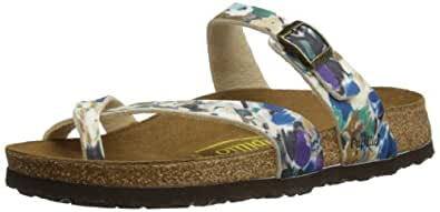 Papillio by Birkenstock Womens Tabora Thong Sandals 213231 BF Vanilla Flower Blue 4 UK, 37 EU, Regular