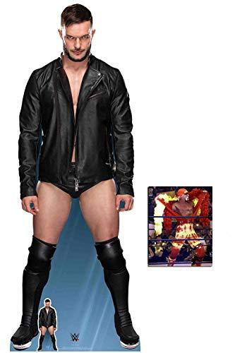 BundleZ-4-FanZ by Starstills WWE Finn Balor Lebensgrosse und klein Pappaufsteller mit 25cm x 20cm Foto