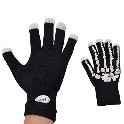 RAN Luminous Gloves Performance Kostüme Bunte Make-up Handschuhe Bar Requisiten Halloween Weihnachten (Halloween Drei Ist Company Kostüm Für)