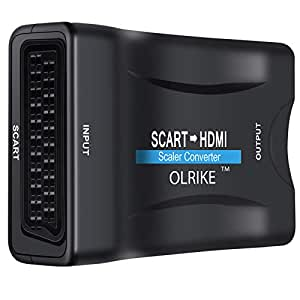 OLRIKE STHC001 - 1080P SCART to HDMI Video Audio Upscale Converter for HDTV STB VHS XBox PS3 Sky DVD Blu-ray