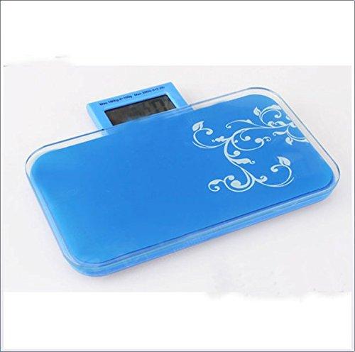 CHENG Tragbare Körperwaagen Mini-Körperwaagen Gewichtsskalen 0-180 Kg 180Kg Genauigkeit 100G,Blue