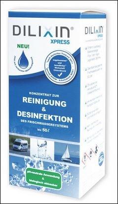 Preisvergleich Produktbild DILIXIN XPRESS 250ml zur Tank-u. Leitungsdesinfektion, Tankreinigung,Trinkwasserdesinfektionsmittel