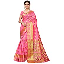 Pisara Women's Chanderi Silk Saree,Burgundy Sari