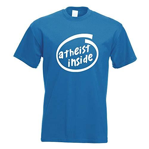 Kiwistar Atheist Inside T-Shirt Motiv Bedruckt Funshirt Design Print