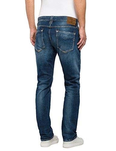 Replay Herren Loose Fit Jeans Newbill Blau (Blue Denim 7)