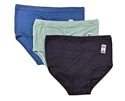 6 Pairs Men's Colour Y-Fronts Underpants, 100% Pure Cotton Trad Briefs Underwear, M L XL XXL By Sockstack®