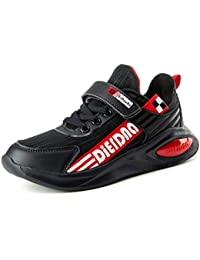 Scarpe Sportive da Corsa per Bambini con Velcro Ragazzi Ragazze Calzature Sportive  con Fondo Morbido Antiscivolo 28c6a377e01