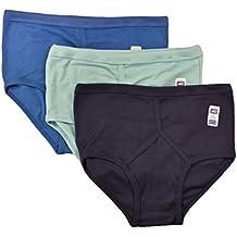 6 Pairs Men's Colour Y-Fronts Underpants, 100% Pure Cotton Trad Briefs Underwear, M L XL XXL By Sockstack®