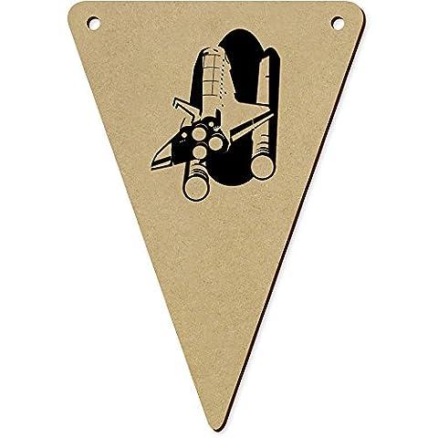 5 x 140mm 'Navette Spatiale' fanions triangles en bois