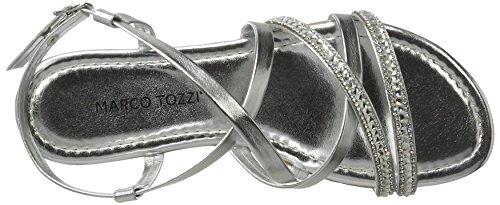 Marco Tozzi 2-2-28125-28 948, Sandali Donna Argento (Silver Comb 948)