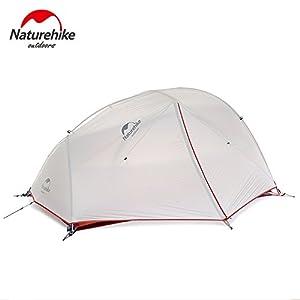 Naturehike Star-River Leichtes Zelt 20D Silikon Stoff 2 Person Doppelschichten Aluminium Rod Camping Zelt