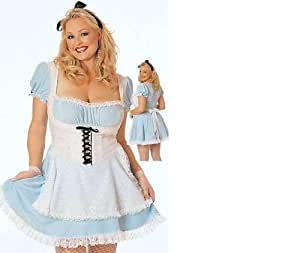 Womens / Ladies Fancy Dress Costume - Alice in Wonderland UK 10 S