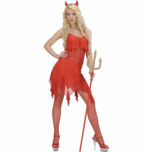 Kostüm Sexy Satan - Kostüm sexy Teufelin Damen Satan Hölle Grusel Davil Teufelchen Halloween Horror (Medium)