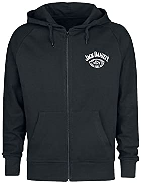 Jack Daniel's Tennessee Whiskey Sudadera Capucha con Cremallera Negro
