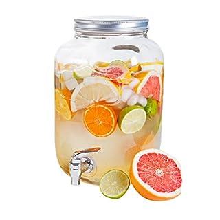 ARD'TIME DJ-4L Klassischer Trinkwasser-Krug mit Wasserhahn, aus Glas, transparent 16x 15x 25,5cm, 4Liter