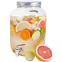 Ard'time DJ-4L Classique Potable Jar avec Robinet Verre Transparent 16 x 15 x 25,5 cm 4 L