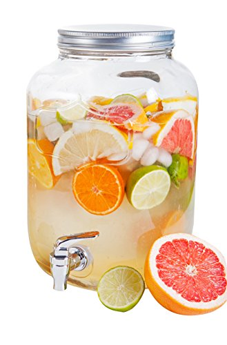 Ard'time DJ-4L Drinking JAR 4L avec Robinet, Verre, Transparent, 16x15x25,5 cm