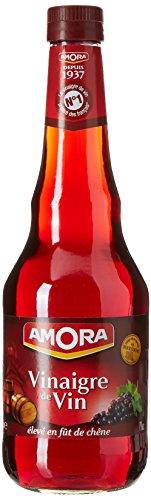 Amora Vinaigre de Vin Rouge Nature 75 cl - Lot de 6