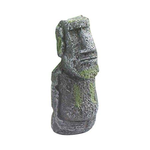 meisijia Fisch-Behälter-Dekorationen Ostern-Insel-Statue-Antike-römische Portraits Aquarium-Verzierungportrait 12.9 * ()