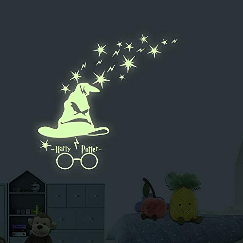 Price comparison product image akeke Glow in The Dark Stars Harry Potter Peel and Wall Decals - Harry Potter Gifts Wall Stickers for Boys Girls Bedroom Home Door Window Wall Decor