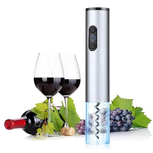 HOCOSY-Automatische Wein Flaschenöffner,Korkenzieher Elektrisch Set mit Folienschneider, Ideal für Gummi/Kunststoffkorken/Großformat-Flaschen