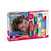 Features foam blocks with magnetic strips, Improves hand-eye coordination, Helps to develop motor skills and logic/reasoning, Recommended for ages 4 to 5 years, Includes magnetic building platform