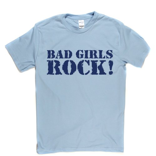 Bad Girls Rock Grunge Metal Goth Punk T-shirt Himmelblau