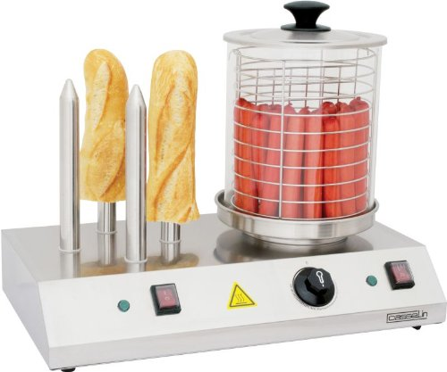 41802sACHVL - Casselin electric hot-dog machine in stainless steel 960W with 4 bread sticks