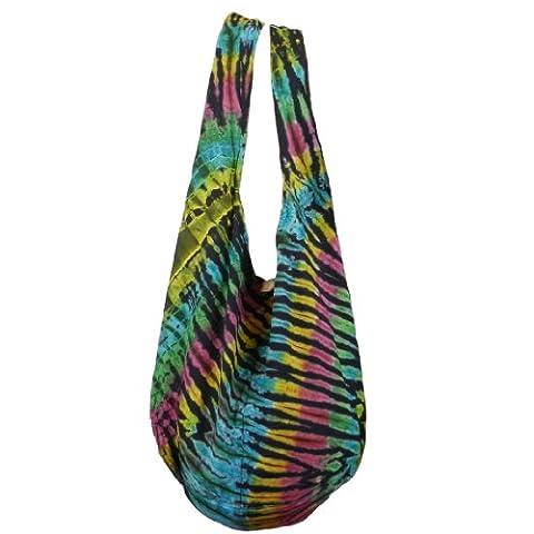 BTP! Tie Dye Sac Sling Hippie Hobo Sac à bandoulière coton Plusieurs couleurs au choix