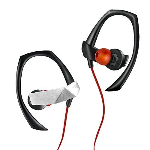 Bluetooth-Kopfhörer, ANCREU Drahtloser Sport-Ohrhörer mit Mikrofon, leichter Metall-Laufkopfhörer sichert Ohrhaken mit magnetischem Klipp, 10 Stunden Laufzeit für Samsung und iPhone Metall-ohrhaken