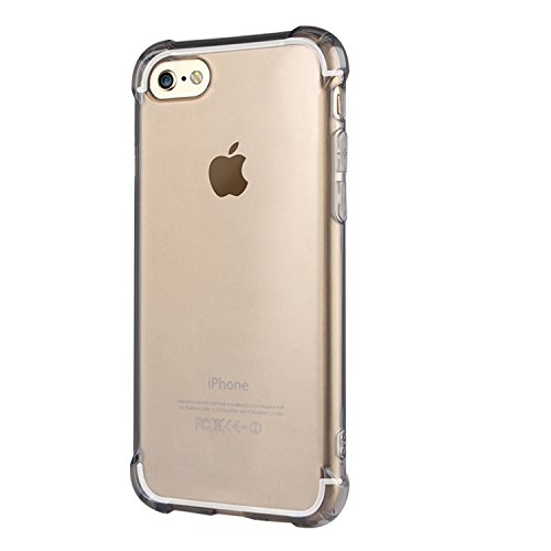 "ARTLU® iPhone 6 / 6S 4.7 ""Case Cover [avec Protecteur d'écran gratuit], Transparent silicone souple Clear Gel TPU Scratch Proof design transparent Creative Ultra Slim Back Cover Shell pour Apple iPhon A7"