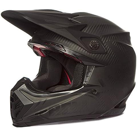 Bell Moto-9Carbono Flex síndrome casco de Motocross, BH 7060778, negro mate, small