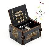 FOONEE Harry Potter Musik Box, Geschnitzt aus Holz Boxen Handkurbel Music Box, antik Geschnitzt Musik Box für Home Dekoration, Toys, Handwerk, Geschenk Schwarz