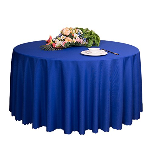 Style Simple Nappe 79-Inch Round Polyester Nappe, Bleu Marine
