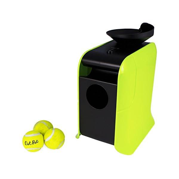 electriQ Automatic Dog Ball Launcher with Treat Dispenser 1