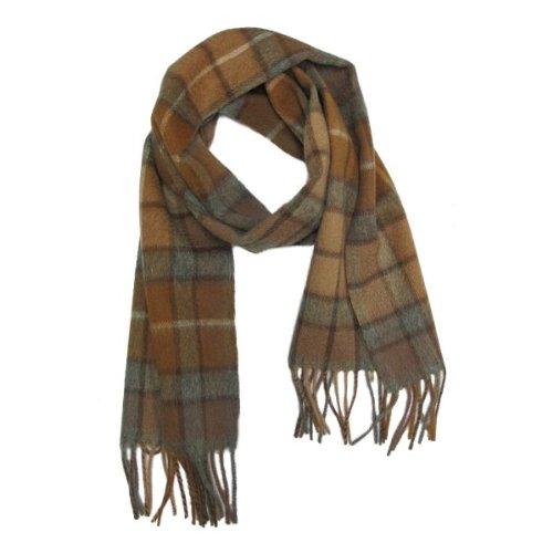Schal 100 % Wolle mit schottischem Natural Buchanan Tartanmuster 152,5x30,5 cm