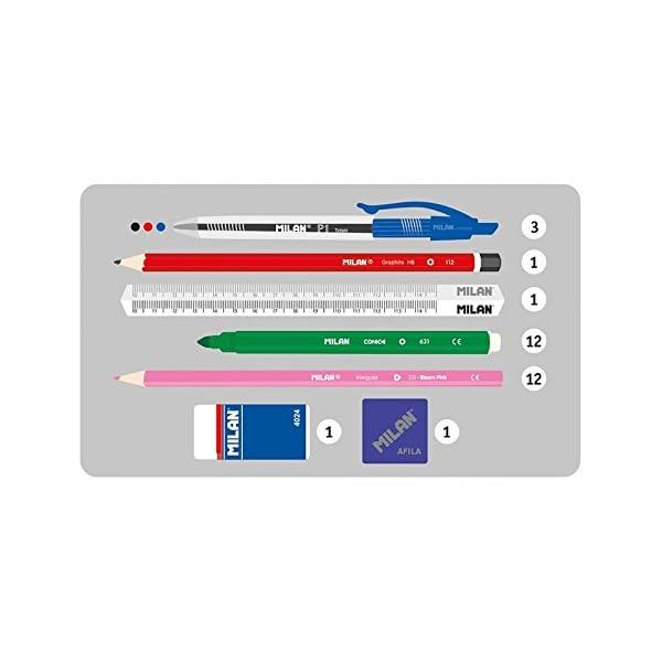 Milán- Estuche con 4 portatodos, Color Verde, 22 x 10 x 10 cm (08872KNY)