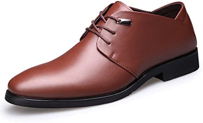 LEDLFIE Zapatos De Cuero Real De Los Hombres Zapatos De Vestir De Los Hombres con Cordones  -