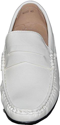 Mocassins à doublure intérieure cuir g001 Blanc 003