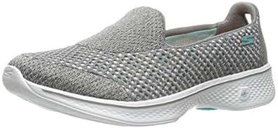 Skechers Women's Go Walk 4-Kindle Low-Top Sneakers, Black, 6.5 M US, Gray (Gry), 2 UK