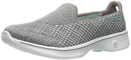Skechers Go Walk 4 - Kindle, Women Low-Top Sneakers, Gray (Gry), 4...