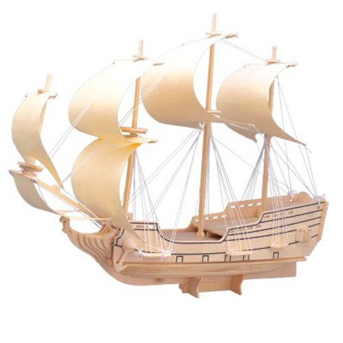 Etna Iława Galeone 3D Holzbausatz Schiff Boot Holz Steckpuzzle Holzpuzzle Kinder P128