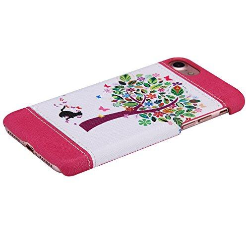 iPhone 7 Hülle,iPhone 7 Case,Felfy Stoßfest Hülle PC Plastic Harte Rüstung Anti-Shock Case Ultra Dünn Farbmuster Schutz Bumper Tasche Schale Etui Hülle Hard Case für Apple iPhone 7 4.7 Zoll (Schmetter Katzen und Baum