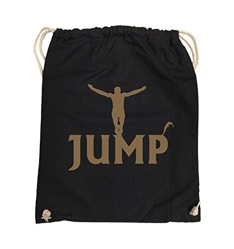 Borse Da Commedia - Jump - Figure - Borsa Da Giro - 37x46cm - Colore: Nero / Rosa Nero / Marrone Chiaro