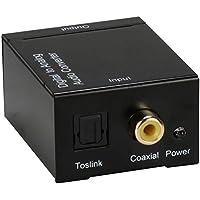 QVS SPDIF-RCA Negro convertidor de audio - Conversor de audio (5 V)
