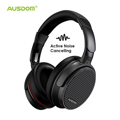 Noise Cancelling Headphones, Ausdom ANC7 Bluetooth Headphones, Wireless Over Ear Headset with 20 Hour Playtime,Hi-Fi Stereo, ANC Headphones with Powerful Bass, Lightweight and Build in Mic