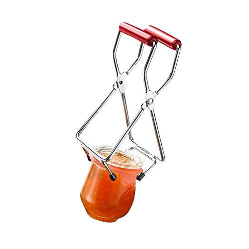 Westmark Konserven-/Einmachglas-Heber, Für Glasdurchmesser bis 18 cm, Verchromter Stahl/Kunststoff, Silber/Rot, 10532270 -