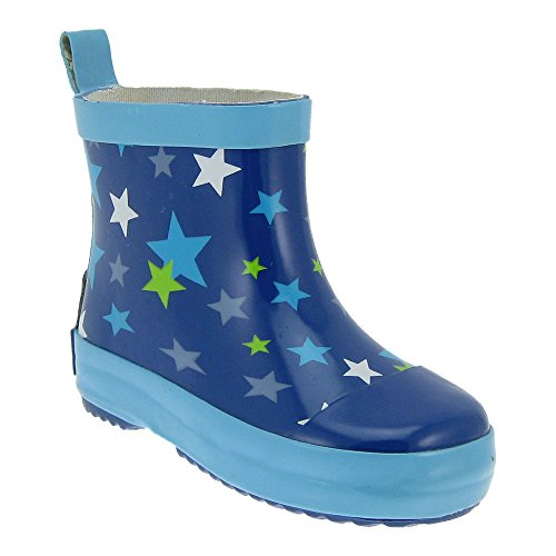 GALLUX - Kinder Gummistiefel Regenstiefel Mädchen und Jungen Kurzschaftstiefel Blau/Türkis