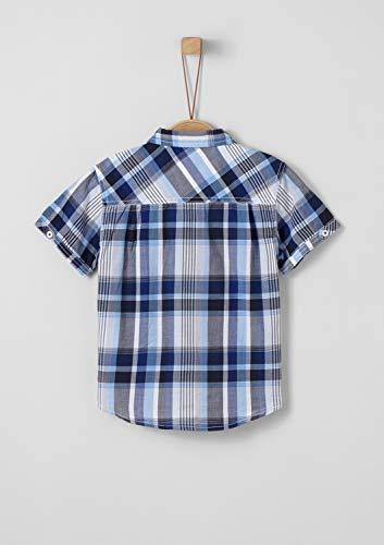 s.Oliver RED Label Junior Jungen Hemd im Karo-Design Blue Check 140.REG