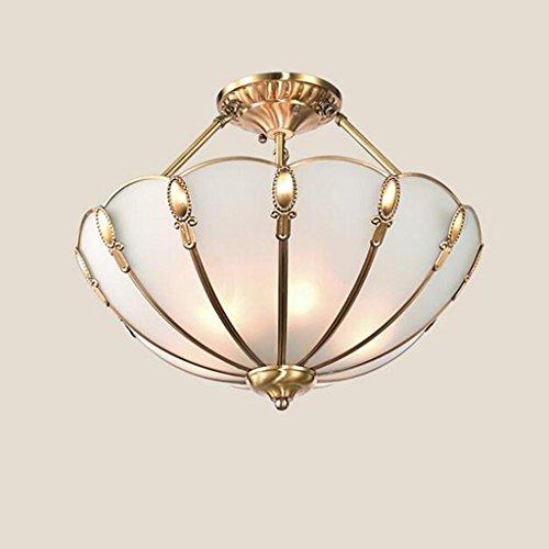 Classica rame lampada da soffitto, lampada da soffitto circolare di soggiorno camera da letto sala (Dobby Pizzo)